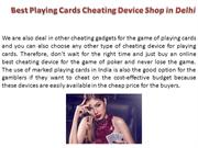 Best Cheating Playing Cards Shop in Delhi