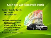Cash For Car Removals Perth
