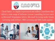 Software License Negotiation and  Benchmarking Services - Cloud Optics