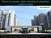 Points to consider when investing on properties in Sohna Road
