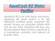 AquaFresh RO Water Purifier ppt