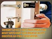 Urgent Lock & Key providing the most efficient and high quality servic