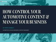 How to control your automotive content and manage your business?