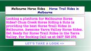 Horse Trail Rides in Melbourne | Melbourne Horse Rides
