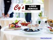 Customer Care Laundry Services | Cy's Linen Service