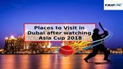 Places to Visit in Dubai After Watching Asia Cup 2018