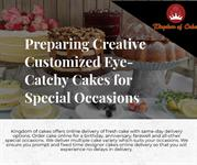 Preparing Creative Customized Eye-Catchy Cakes for Special Occasions