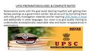 UPSC PREPARATION GUIDES  & COMPLETE NOTES