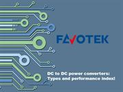 DC to DC power converters: Types and performance index!