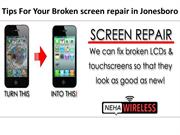 Broken screen repaired In jonesboro