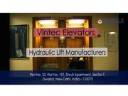 Hydraulic-lift-  Manufacturers