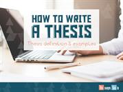 How to Write a Good Thesis