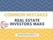 Find the Common Mistakes Which are Made By Real Estate Investors