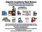 experts academy Best Bonus