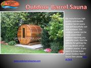 High Quality and Durable Outdoor Barrel Sauna