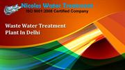 Waste Water Treatment Plant In Delhi