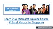 Learn VBA Microsoft Training Course & Excel Macros In Singapore