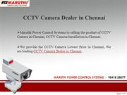 CCTV Camera in Chennai | CCTV Dealers in Chennai