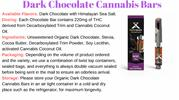 Dark Chocolate Cannabis Bars