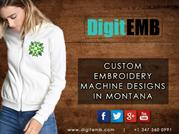 Custom Embroidery Machine Designs in Montana