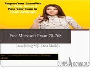 Dumps4download Free Microsoft 70-768 Microsoft Exam Questions