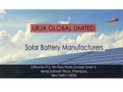 Solar-Battery -Manufacturers