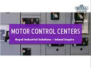 Motor Control Center (MCC) |Motor Control: Royal Industrial Solutions