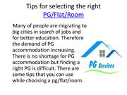 Tips for selecting the right PG
