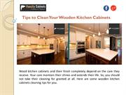 Tips to Clean Your Wooden Kitchen Cabinets