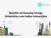 Benefits of Choosing Foreign Universities over Indian Universities