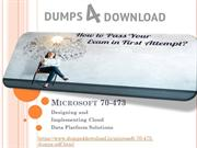 Dumps4download |Free Microsoft 70-473 Exam Dumps with PDF, 100% Pass
