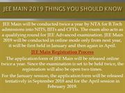 JEE Main 2019 Things you should Know | SKLE | Sk Learner