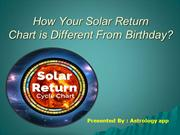 Solar Return Chart is Different From Birthday