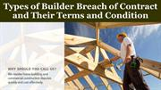 Types of Builder Breach of Contract and Their Terms and Condition