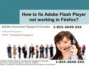 How to fix Adobe Flash Player not working in Firefox