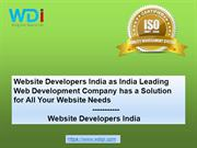 Website Developers India as India Leading Web Development Company has