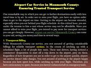 Airport Car Service in Monmouth County Ensuring Trusted Transport Serv