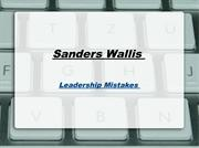 Sanders Wallis-Leadership Mistakes