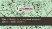 How to design your corporate website to generate more business