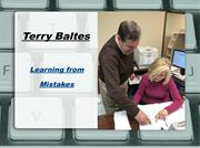 Terry Baltes-Learning from Mistakes