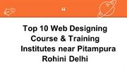 top 10 web designing course & training institute near pitampura rohini