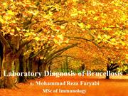 Laboratory Diagnosis of Brucellosis