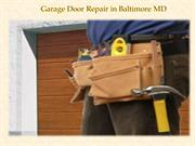 Garage Door Repair in Baltimore MD