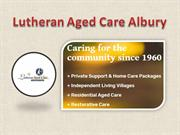 Lutheran Aged Care - Aged Care Facilities near Albury
