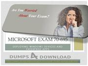 Download Free Microsoft 70-695 Exam PDF Download