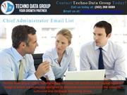 Chief Administrator Email List | Marketing Lists | CAO Email List
