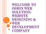 Welcome to Oshin web solution Website Designing & Web Development Comp