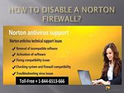 How to Disable a Norton Firewall?