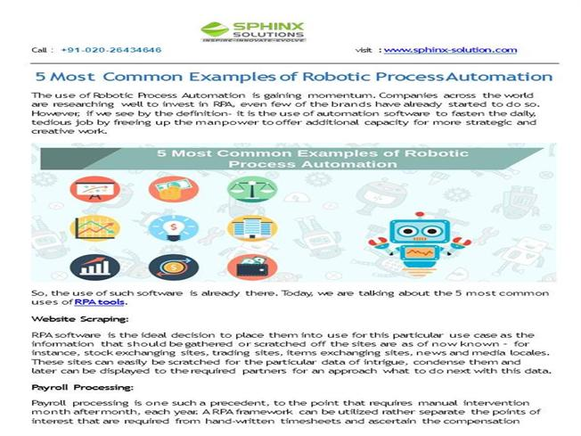 5 Most Common Examples of Robotic Process Automation