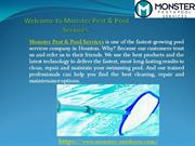 Monster Outdoors - Pool Cleaning Services Company in Houston,TX